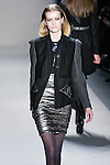 Chavelli Inghels walks the runway in a Nicole Miller Fall 2011 outfit, during Mercedes-Benz Fashion Week.