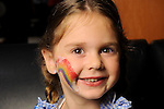 Emma Hamilton shows off her face paint at the Little Galleria Halloween Spooktacular presented by MD Anderson Children's Cancer Hospital at The Galleria Sunday Oct. 30,2016.(Dave Rossman photo)