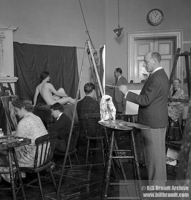 Artist's School, Euston 1940s