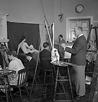 Artist's School, Euston 1940s
