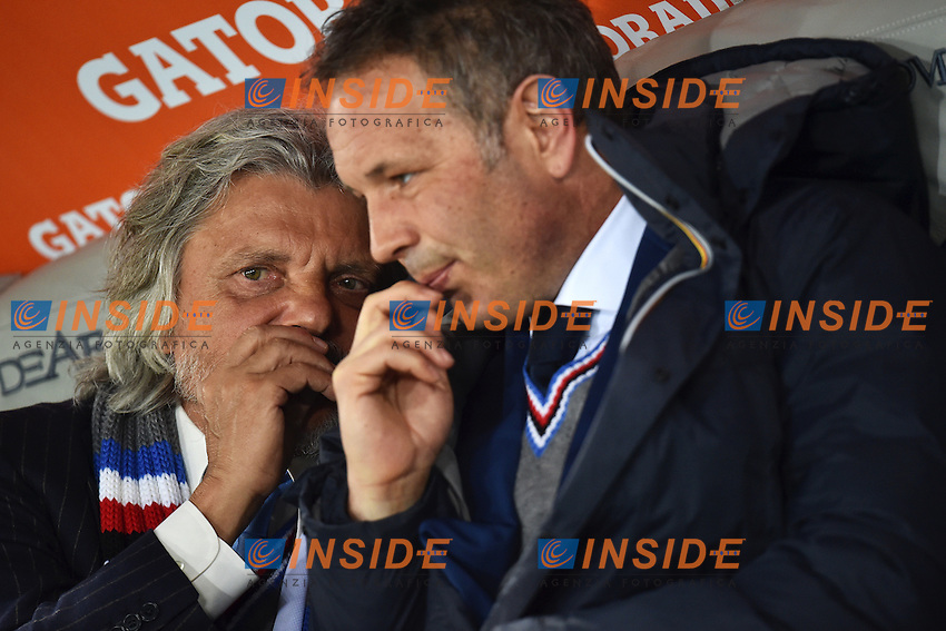 Massimo Ferrero Presidente, Sinisa Mihajlovic Allenatore Sampdoria <br /> Roma 16-03-2015 Stadio Olimpico Football Calcio Serie A 2014/2015 AS Roma - Sampdoria . Foto Andrea Staccioli / Insidefoto