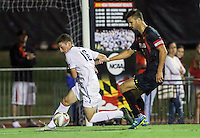 College Park, Maryland - Friday September 2, 2016: The University of Maryland defeated Georgetown University 2-1 in a NCAA soccer match at Ludwig Field.