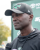 New York Jets head coach Todd Bowles meets reporters after his team participated in a joint training camp practice with the Washington Redskins at the Washington Redskins Bon Secours Training Facility in Richmond, Virginia on Monday, August 13, 2018.<br /> Credit: Ron Sachs / CNP<br /> (RESTRICTION: NO New York or New Jersey Newspapers or newspapers within a 75 mile radius of New York City)