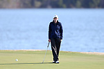 BROWNS SUMMIT, NC - APRIL 02: Penn State's Jackie Rogowicz waits on the 14th green. The third round of the Bryan National Collegiate Women's Golf Tournament was held on April 2, 2017, at the Bryan Park Champions Course in Browns Summit, NC.