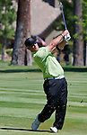 August 5, 2012: David Duval swings from the 15th fairway during the final round of the 2012 Reno-Tahoe Open Golf Tournament at Montreux Golf & Country Club in Reno, Nevada.