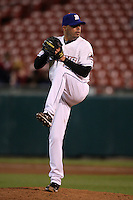May 3, 2010:  Relief Pitcher Kiko Calero of the Buffalo Bisons delivers a pitch during a game vs. the Louisville Bats at Coca-Cola Field in Buffalo, NY.   Louisville defeated Buffalo by the score of 20-7.  Photo By Mike Janes/Four Seam Images