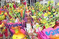 PASTO -COLOMBIA, 03-01-2016. Aspecto de las comparsas durante el desfile de colectivos coreográficos del Carnaval de Negros y Blancos 2016 que se lleva a cabo entre el 2 y el 7 de enero de 2016 en la ciudad de Pasto, Colombia. / Aspect of the troupes during the collective choreographic parade of the Blacks and Whites' Carnival 2016 which is held between 2 and 7 of January 2016 at Pasto, Colombia. Photo: VizzorImage / Leonardo Castro / Cont