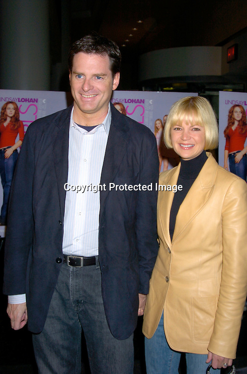 """Mark Waters and wife Dina ..at a private screening of """"Mean Girls"""" on April 23, 2004 at the Loews Lincoln Square Theatre in New York City. ..Photo by Robin Platzer, Twin Images"""
