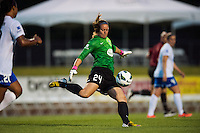 Boston Breakers goalkeeper Ashley Phillips (24). Sky Blue FC defeated the Boston Breakers 5-1 during a National Women's Soccer League (NWSL) match at Yurcak Field in Piscataway, NJ, on June 1, 2013.