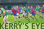 Action from the  Dunloe Cup Final at Kerins O'Rahillys GAA ground strand Road on Friday, St. Brendans David Clifford gets away from ISK : St. Brendans 2-18 IS Killorglin 1-13