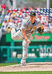 21 June 2015: Pittsburgh Pirates pitcher Vance Worley on the mound against the Washington Nationals at Nationals Park in Washington, DC. The Nationals defeated the Pirates 9-2 to sweep their 3-game weekend series, and improve their record to 37-33. Mandatory Credit: Ed Wolfstein Photo *** RAW (NEF) Image File Available ***