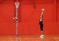 13.09.2016 Silver Ferns Mia Wilson in action during training ahead of their second netball match tomorrow night between the Silver Ferns and Jamaica in Palmerston North. Mandatory Photo Credit ©Michael Bradley.