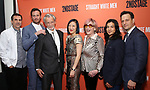 Paul Schneider, Armie Hammer, Stephen Payne, Young Jean Lee, Kate Bornstein, Ty Defoe and Josh Charles attend the Broadway Opening Night after party for 'Straight White Men' Broadway Opening Night at DaDong on July 23, 2018 in New York City