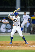 Logan Gray (9) of the Burlington Royals at bat against the Princeton Rays at Burlington Athletic Stadium on August 12, 2016 in Burlington, North Carolina.  The Royals defeated the Rays 9-5.  (Brian Westerholt/Four Seam Images)