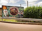 NICARAGUA, a roadside billboard near San Juan del Sur