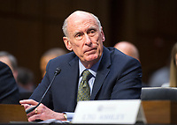 Director of National Intelligence (DNI) Dan Coats testifies before the United States Senate Committee on Intelligence during a hearing to examine worldwide threats on Capitol Hill in Washington, DC on Tuesday, February 13, 2018<br /> Credit: Ron Sachs / CNP /MediaPunch