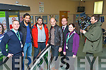 Staff from Kerry Airport who were extras in the German film Happy Hour which was shot at the Airport on Thursday with the three main actors and the director l-r: Adrian O'Connell, Mehdi Nebbou, Alexander Hoerbe, Simon Licht, Paul Hobbert, Patricia Coveney and Franz Muller (Director)