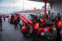 Apr 21, 2018; Baytown, TX, USA; Crew members for NHRA funny car driver Cruz Pedregon during qualifying for the Springnationals at Royal Purple Raceway. Mandatory Credit: Mark J. Rebilas-USA TODAY Sports
