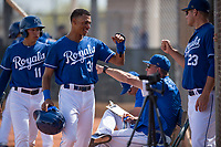 Kansas City Royals center fielder Michael Gigliotti (31) during a Minor League Spring Training game against the Milwaukee Brewers at Maryvale Baseball Park on March 25, 2018 in Phoenix, Arizona. (Zachary Lucy/Four Seam Images)
