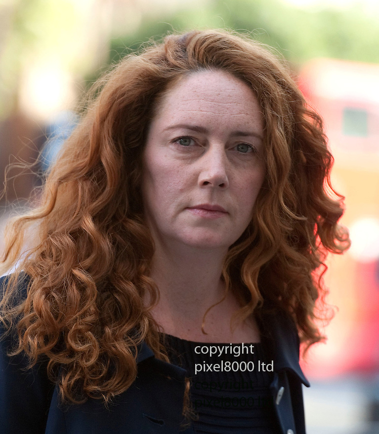 FORMER News International chief executive Rebekah Brooks arrives in court to face charges linked to alleged phone hacking...She arrived at Weminster today 3.9.12...The 44-year-old is due before Westminster Magistrates Court on Monday accused over an alleged conspiracy to illegally access voicemails...She faces one general charge, which prosecutors claim could affect more than 600 victims, and two other specific charges linked to murdered schoolgirl Milly Dowler and former union boss Andrew Gilchrist......Pic by Gavin Rodgers/Pixel 8000 Ltd