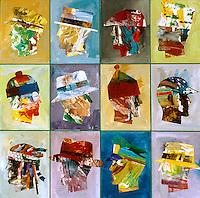 "America #62 by Robert Inman, Acrylic on Canvas, 48"" x 48"""