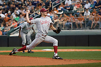 Stanford starting pitcher Mark Appel (26) delivers a pitch against the Texas Longhorns on March 4th, 2011 at UFCU Disch-Falk Field in Austin, Texas.  (Photo by Andrew Woolley / Four Seam Images)