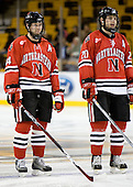 Steve Birnstill (NU - 44), Yale Lewis (NU - 20) - The Northeastern University Huskies defeated the Harvard University Crimson 3-1 in the Beanpot consolation game on Monday, February 12, 2007, at TD Banknorth Garden in Boston, Massachusetts.