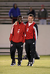 24 March 2004: Fourteen year old Freddy Adu (left) and rookie head coach Peter Nowak before the game. DC United of Major League Soccer defeated the Wilmington Hammerheads of the Pro Select League 1-0 at the Legion Sports Complex in Wilmington, NC in a Carolina Challenge Cup match...