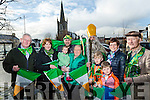 Listowel St Patrick's Day Committee looking for people to take part in the 2017 Parade. Pictured l-r Tim O'leary, Breda Dowling, Noreen O'Connell, Clodagh O'Connor, Christy Walsh, Liam Brennan as St. Patrick, Ruairí O'Connell, Michelle O'Connell, Aodhan O'Connell and Matt Mooney