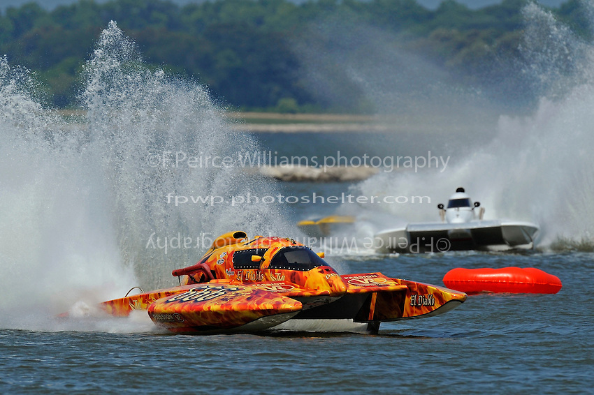 """CE-666 """"El Diablo, Tom Thompson, E-816 """"Batt Boat"""" and Jim Martin, E-43  (5 Litre class hydroplane(s)"""