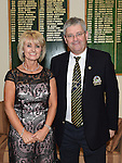 Captain of Seapoint Golf Club Dan Reynolds and Lady Captain Sandra Kierans pictured at the Captains dinner. Photo:Colin Bell/pressphotos.ie