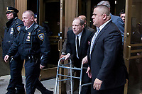 NEW YORK, NEW YORK - JANUARY 6: Harvey Weinstein leaves at the Manhattan courthouse. On January 6, 2020 in New York City. Weinstein pleaded not guilty to five counts of rape and faces a possible life sentence in prison. (Photo by Pablo Monsalve / VIEWpress)