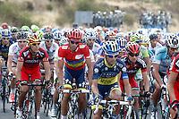 Alberto Contador (2l) and Philippe Gilbert (l) during the stage of La Vuelta 2012 beetwen Penafiel-La Lastrilla.September 7,2012. (ALTERPHOTOS/Paola Otero) /NortePhoto.com<br /> <br /> **CREDITO*OBLIGATORIO** *No*Venta*A*Terceros*<br /> *No*Sale*So*third* ***No*Se*Permite*Hacer Archivo***No*Sale*So*third