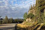 COLOURFUL ROCKS ALONG THE ALASKA HIGHWAY, BRITISH COLUMBIA, CANADA