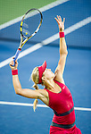 Eugenie Bouchard (CAN) falls to Svetlana Kuznetsova (RUS) at the Western & Southern Open in a three set match by 64 36 62 in Mason, OH on August 13, 2014.
