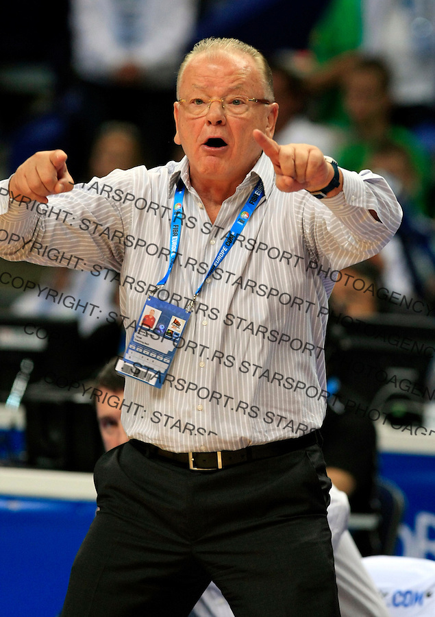 Duda Dusan Ivkovic, during round 2, group E, basketball game between Serbia and Turkey in Vilnius, Lithuania, Eurobasket 2011, Sunday, September 11, 2011. (photo: Pedja Milosavljevic)