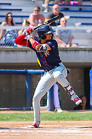 Cedar Rapids Kernels shortstop Royce Lewis (30) at bat during a Midwest League game against the Beloit Snappers on September 3, 2017 at Pohlman Field in Beloit, Wisconsin. Beloit defeated Cedar Rapids 3-2. (Brad Krause/Four Seam Images)