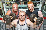 Weight Lifters Damo Casey Kilcummin, Konrad Dabrowski Ballyvourney and John Martin Cahill Killarney who all lifted twice their own body weight to qualify for the European Championships at the GPC Nationals at Patrickswell Power Lifting Club Limerick last weekend