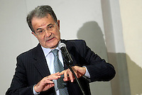 Romano Prodi .Roma 16/04/2013 Pontificia Universita' Angelicum. Lectio Magistralis su 'I grandi cambiamenti della politica e dell'economia mondiale: c'e' un posto per l'Europa?'..Lectio Magistralis: The big changes in Politics and economy: is there a place for Europe?.Photo Samantha Zucchi Insidefoto
