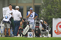 Ernie Els (RSA) cracks up on the 10th tee during Saturay's Round 3 of the 2014 BMW Masters held at Lake Malaren, Shanghai, China. 1st November 2014.<br /> Picture: Eoin Clarke www.golffile.ie