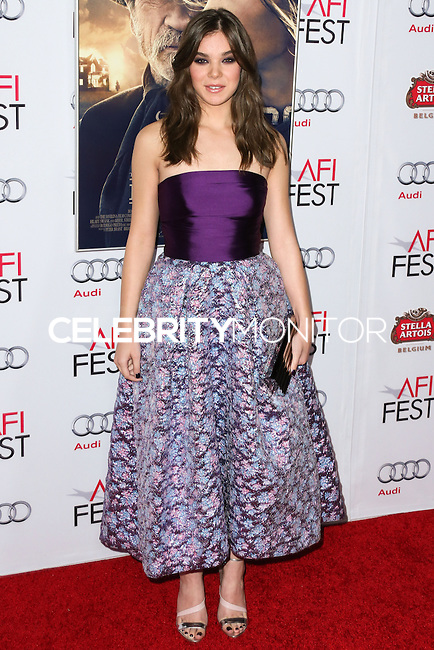 HOLLYWOOD, LOS ANGELES, CA, USA - NOVEMBER 11: Hailee Steinfeld arrives at the AFI FEST 2014 - 'The Homesman' Gala Screening held at the Dolby Theatre on November 11, 2014 in Hollywood, Los Angeles, California, United States. (Photo by Xavier Collin/Celebrity Monitor)