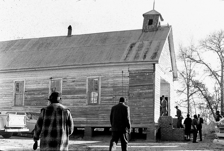 A rural church in Autauga County Ala. This and over 10,000 other images are part of the Jim Peppler Collection at The Alabama Department of Archives and History:  http://digital.archives.alabama.gov/cdm4/peppler.php