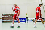 Stockholm 2013-11-10 Handboll Elitserien Hammarby IF - Eskilstuna Guif :  <br /> Eskilstuna Guif Richard &Aring;kerman ser nedst&auml;md ut<br /> (Foto: Kenta J&ouml;nsson) Nyckelord:  depp besviken besvikelse sorg ledsen deppig nedst&auml;md uppgiven sad disappointment disappointed dejected