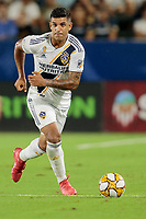 CARSON, CA - SEPTEMBER 15: Diego Polenta #3 of the Los Angeles Galaxy looks for an open man during a game between Sporting Kansas City and Los Angeles Galaxy at Dignity Health Sports Complex on September 15, 2019 in Carson, California.