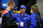 COLUMBUS, OH - MARCH 11: Nick Learn of the Air Force Academy, left, speaks with assistant coach Michael Anti, center, and head coach Launi Meili during the Division I Rifle Championships held at The French Field House on the Ohio State University campus on March 11, 2017 in Columbus, Ohio. (Photo by Jay LaPrete/NCAA Photos via Getty Images)