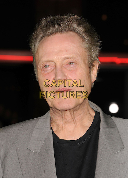 """Christopher Walken.""""Seven Psychopaths"""" Los Angeles Premiere held at the Bruin Theatre, Westwood, California, USA..October 1st, 2012.headshot portrait black top grey gray .CAP/ROT/TM.© TM/Roth/Capital Pictures"""