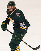 Jake Massie (UVM - 34) - The visiting University of Vermont Catamounts tied the Boston College Eagles 2-2 on Saturday, February 18, 2017, Boston College's senior night at Kelley Rink in Conte Forum in Chestnut Hill, Massachusetts.Vermont and BC tied 2-2 on Saturday, February 18, 2017, Boston College's senior night at Kelley Rink in Conte Forum in Chestnut Hill, Massachusetts.