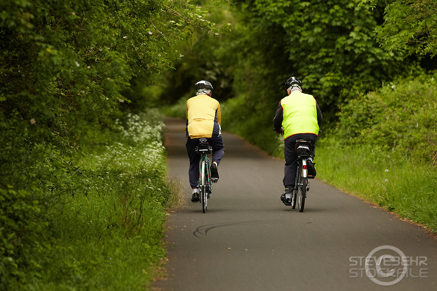 cyclists on Bristol - Bath Cyclepath , May 2011 pic copyright Steve Behr / Stockfile