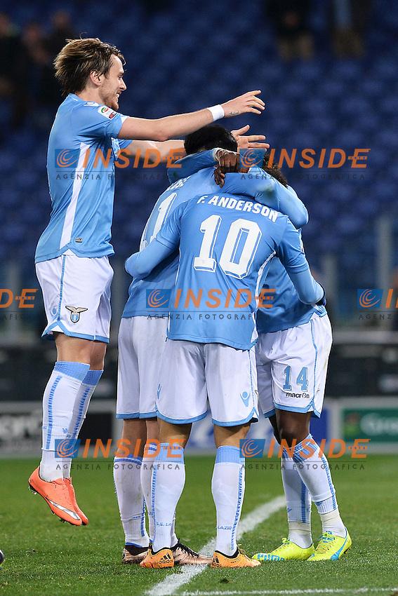 Esultanza Gol Miroslav Klose Lazio Goal celebration 2-0<br /> Roma 13-03-2016 Stadio Olimpico Football Calcio Serie A 2015/2016 Lazio - Atalanta. Foto Andrea Staccioli / Insidefoto