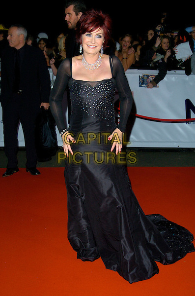 SHARON OSBOURNE.The National Television Awards, Royal Albert Hall, .London, England, October 31st, 2007..TV NTA  full length black dress .CAP/CAN.©Can Nguyen/Capital Pictures